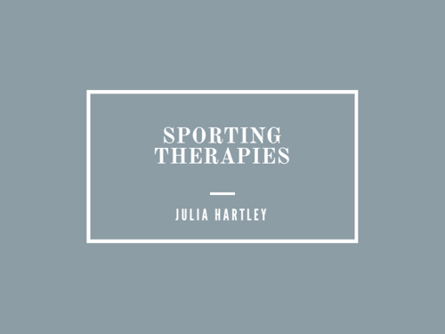 Sporting Therapies by Julia Hartley